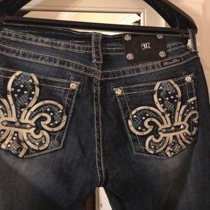 New W/O Tags Miss Me Boot Cut Jeans sz 30